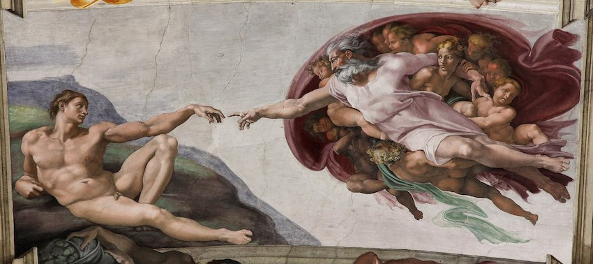 7 7 'Adam's Creation Sistine Chapel ceiling' by Michelangelo JBU33cut